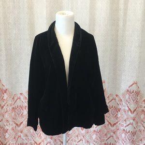 Silk Velvet open Jacket